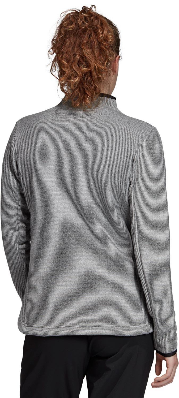 adidas TERREX Knit Fleecejacke Damen dark grey heather
